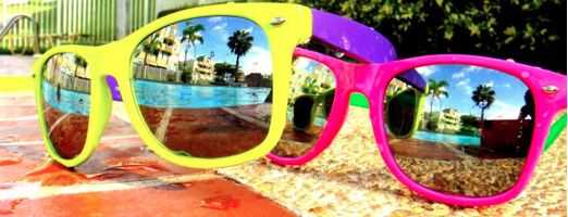 .: Rayban, Bright Shades, Pink Summer, Summer 3, Neon Sunglasses, Summertime Living, Summer Lovin, Ray Ban Sunglasses, Giant Sunglasses