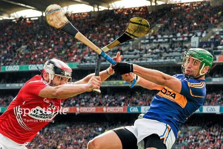 17 August 2014; James Barry, Tipperary, smashes the hurl of Paudie O'Sullivan, Cork. GAA Hurling All-Ireland Senior Championship Semi-Final, Cork v Tipperary. Croke Park, Dublin. Picture credit: Tomas Greally / SPORTSFILE