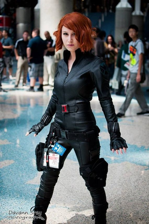 This is a custom made Black widow costume from avengers . I made this extremely accurate costume for the person pictured in this ad. This costume is