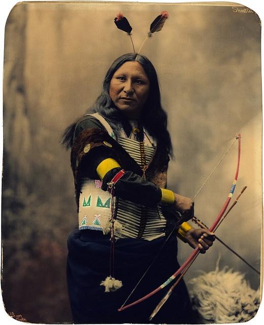 Shout At, Oglala Sioux, by Heyn Photo, 1899