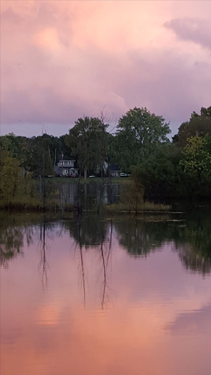 Reflection in Little Lake, Sturgeon Bay.