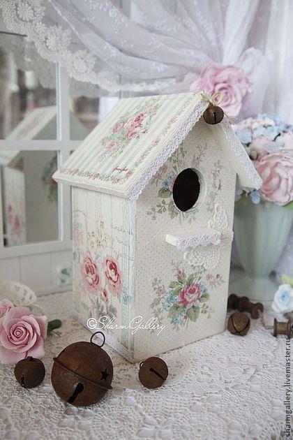 """Купить Скворечник """"Shabby Rose"""". Домик для птиц. - скворечник, шебби шик, шебби стиль, нежность"""