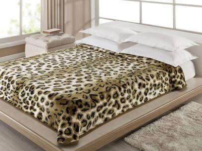 Cobertor Casal Corttex Onça - 1 Peça com as melhores condições você encontra no Magazine Tonyroma. Confira!