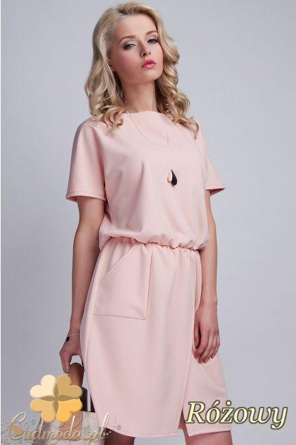 Odcinana sukienka z wiązaniem na plecach marki Lanti.  #cudmoda #moda #sukienki #ubrania #dresses #kleidung #kleid