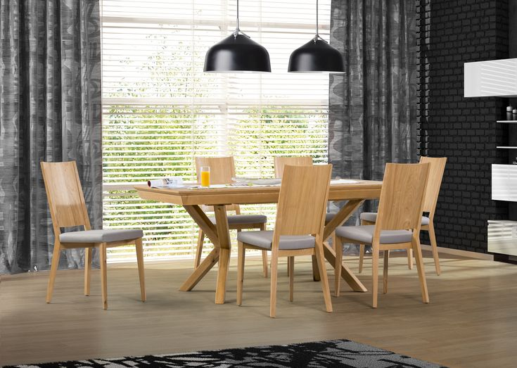 Unique wooden dining table design by Klose. #KloseFurniture #woodentable #diningroom