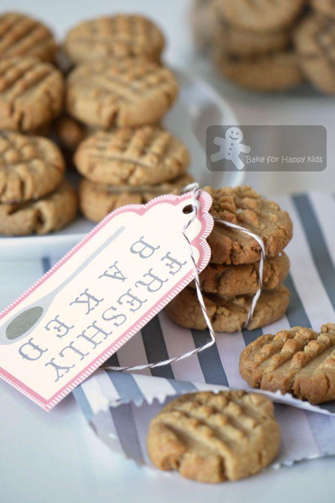 sea salt peanut butter cookies