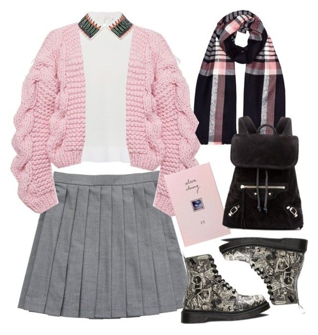 """""""Chunky Cardigan"""" by thestyleartisan ❤ liked on Polyvore featuring Jack Wills, Olympia Le-Tan, I Love Mr. Mittens, Dr. Martens, Balenciaga, women's clothing, women's fashion, women, female and woman"""