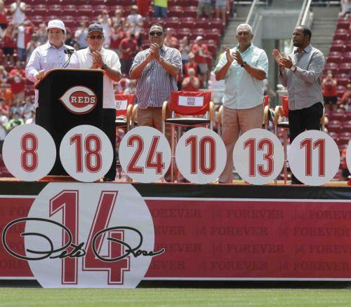 Rojos de Cincinnati retiran número de Pete Rose -...