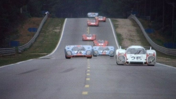 "Racing action from ""Le Mans"" 1971"