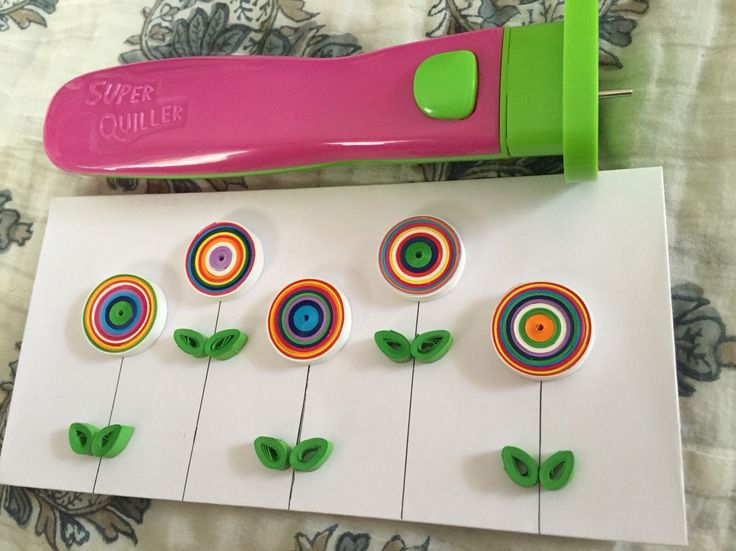 Multi Floral Quilling using my new tool