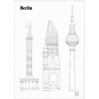 Studio Esinam's Berlin Landmarks poster