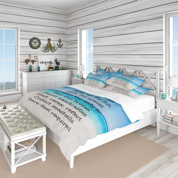 Bedding Beach Rules Comforter Duvet Cover Twin Full Queen King Beach House Decor Living Room Beach House Decor Bedroom Beach House Kitchen Decor