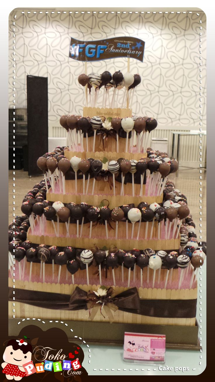 Cake pops with tier