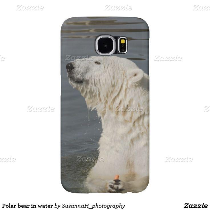 Polar bear in water samsung galaxy s6 cases