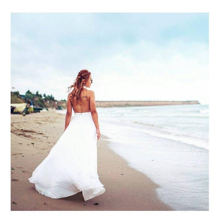 A dress fit for a bohemian bride. Boho wedding dress.