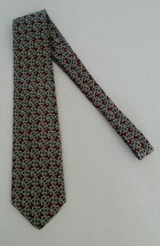 BROOKS BROTHERS BFS 100% SILK TIE geometric design MADE IN USA