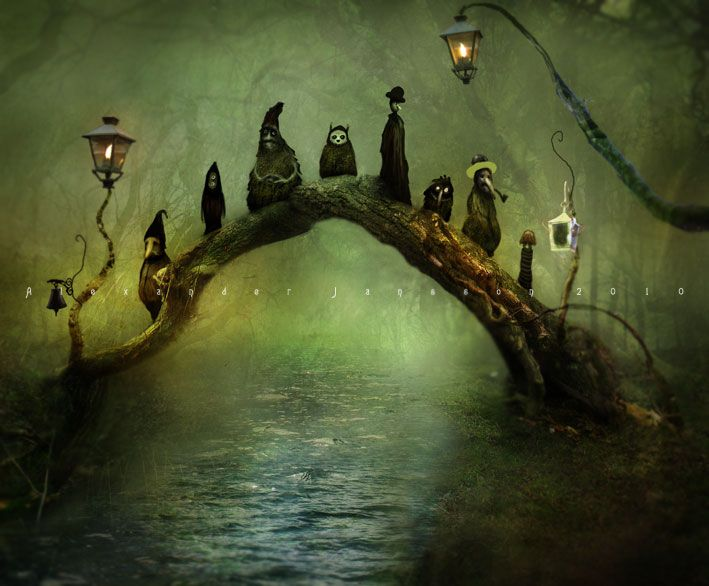 Ghostly ghouls begging for treats, over the river and through the woods to someone's house we go.