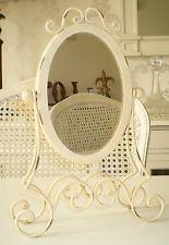 Vintage Style Antique Cream Ladies Vanity Mirror ~ Adjustable Swivel Mirror