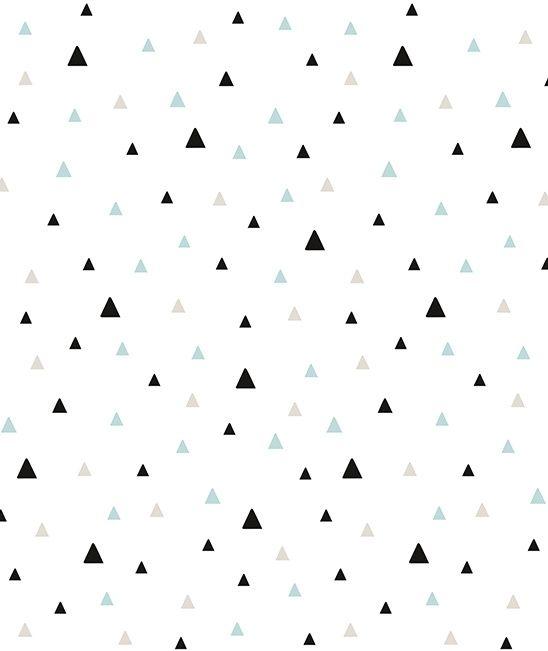 Origami Play Driehoekjes Mint - Behang (type A)