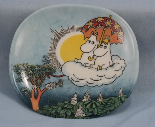 "Arabia Finland Moomin Wall Plate ""Moomin in The Sky"" 