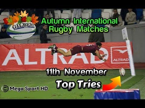 Top Tries 11th November | Autumn International Rugby Matches 2017