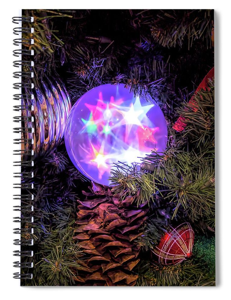 """This 6"""" x 8"""" spiral notebook features the artwork """"The Magic Of Christmas """" by Leslie Montgomery on the cover and includes 120 lined pages for your notes and greatest thoughts."""