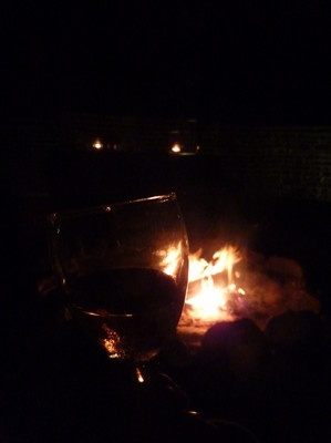 what is a day in the wild without an evening by the fire and a glass of good wine?