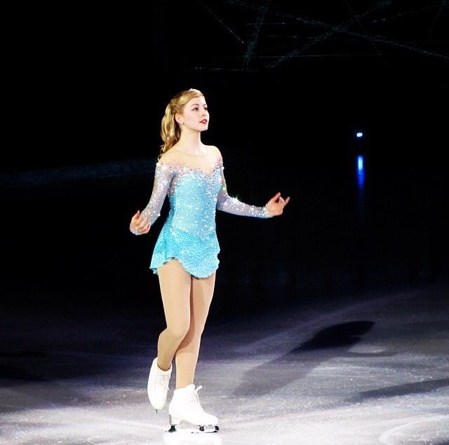 Gracie Gold skating to 'Let It Go' from Frozen. That dress is beautiful.