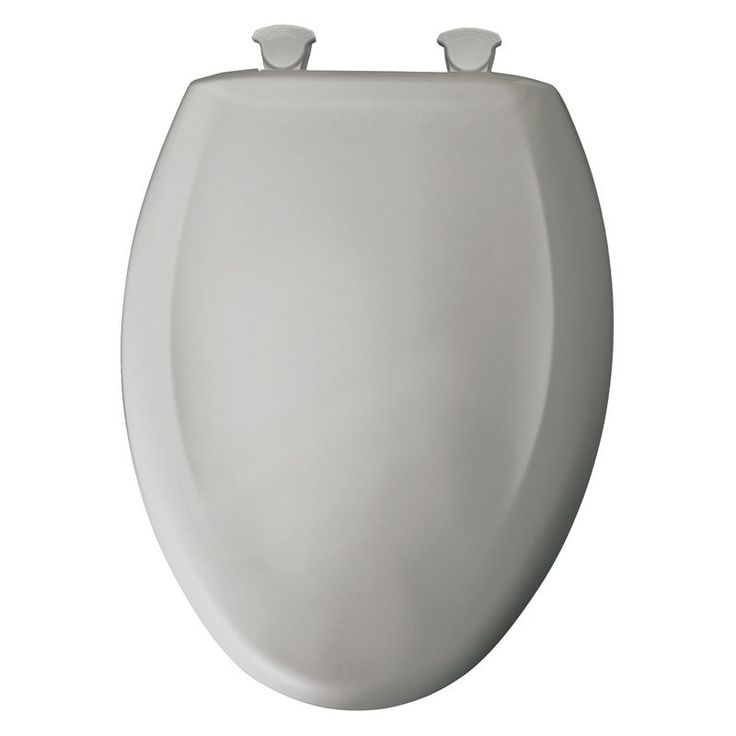 Bemis B1200SLOWT162 Elongated Closed Front Slow-Close Lift-Off Toilet Seat in Silver - B1200SLOWT162