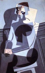 Portrait de Madame Josette Gris - (Juan Gris)