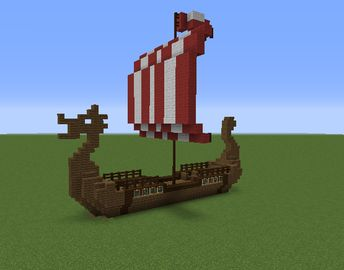 Viking / Nordic Long Boat – GrabCraft – Your number one source for MineCraft bui… – fynnmolz