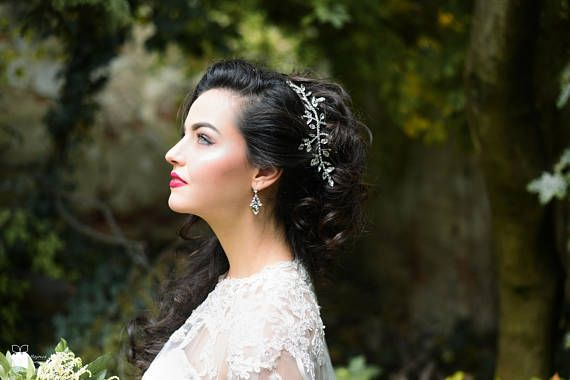 Hairpiece of Rhinestones Crystals Hair Accessory for Bride