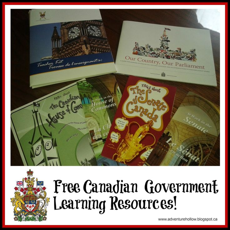 Free Canadian Government Learning Resources. | Adventure Hollow