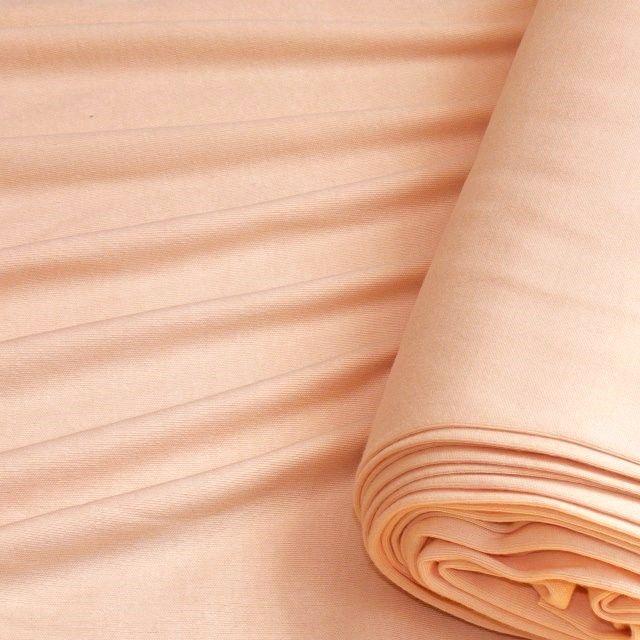 Tričkovina, 100% bavlna, gramáž 185 g/m2, šíře 2x75 cm (tunel). Tato pružná bavlněná látka je vhodná na pyžama, tepláky, kraťasy, trika,  vnitřní