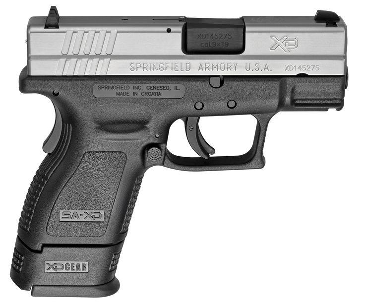 Image result for springfield xds 9mm subcompact bitone