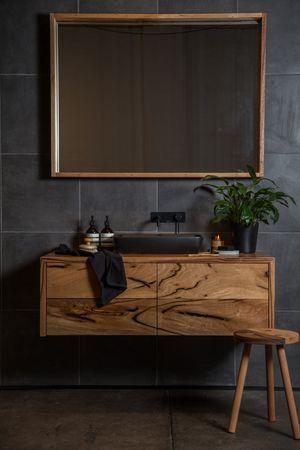 timber vanity More
