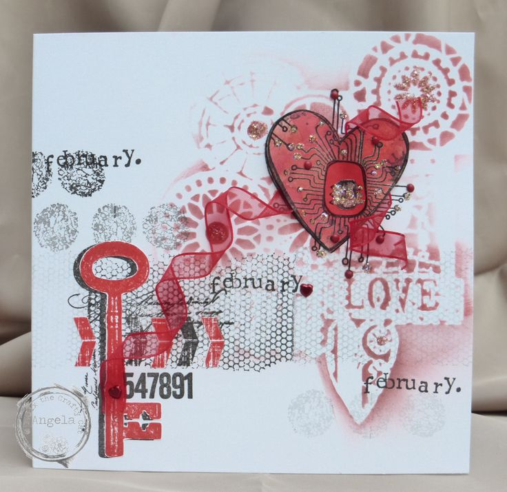 I made this card for The Craft Barn, well for Valentine's Day too obviously.! Happy crafting, Angela xXx