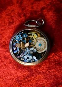 Charlatte Creations, pocket watch art, watches, garden, jewelry, necklace, steampunk, Victorian, repurposed, industrial, Texas
