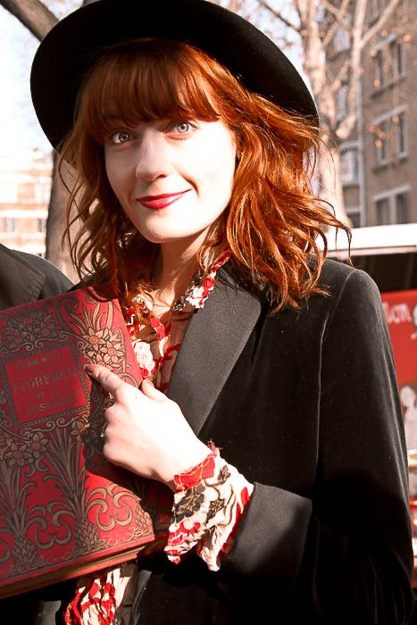 Florence Welch (born: August 28, 1986, Camberwell, United Kingdom)  is an English musician, singer, and songwriter. She is best known as the lead vocalist of the indie rock band Florence + the Machine.