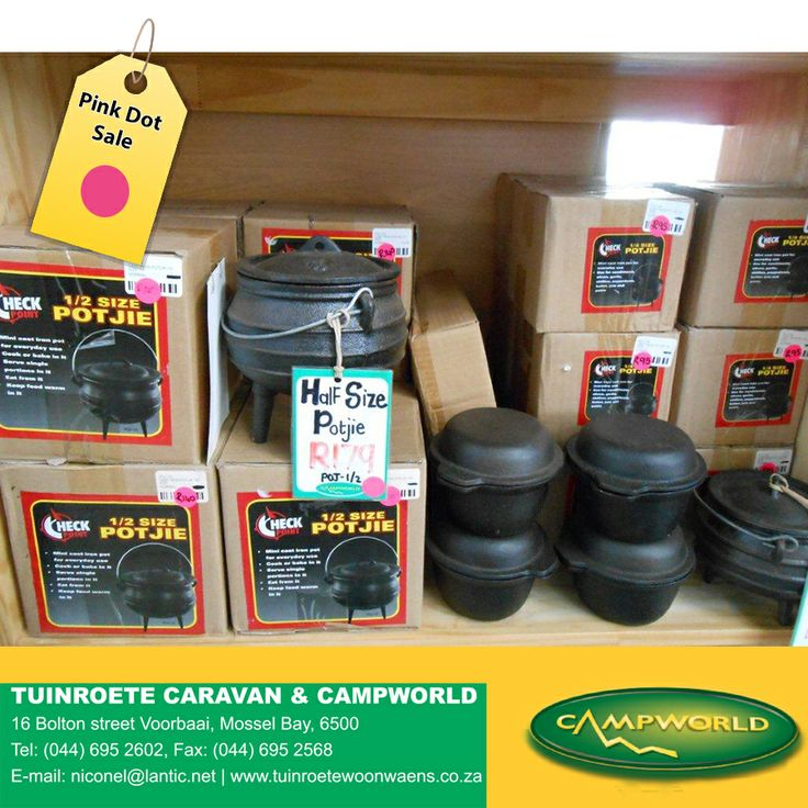 Pink Dot sale on all Potjie pots in store. #sale #outdoor