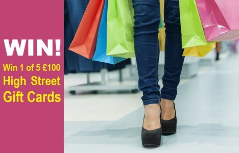 Win 1 of 5 £100 High Street Gift Cards UK