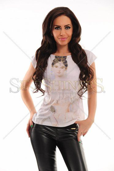 Tricou Stylish Girl White