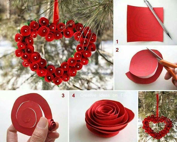 Corazon de rosas rojas