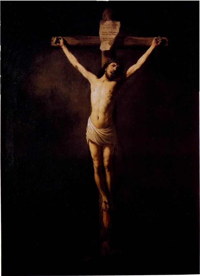 Rembrandt Christ On The Cross Painting