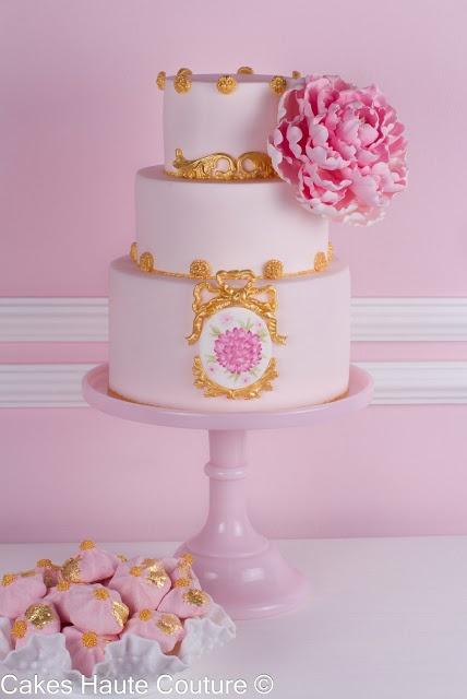 Tarta de boda peonía / Peony cake