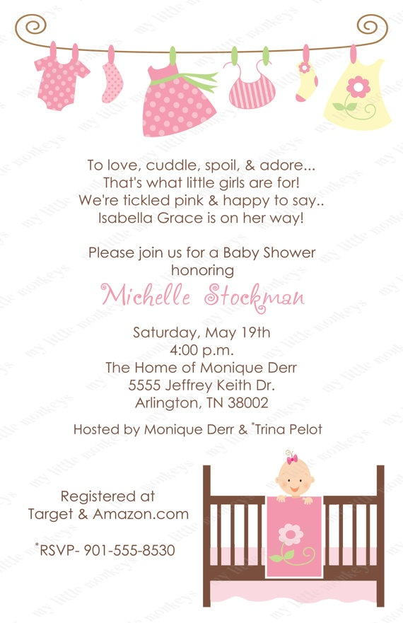 best twin girl baby shower images on   girl shower, Baby shower invitation