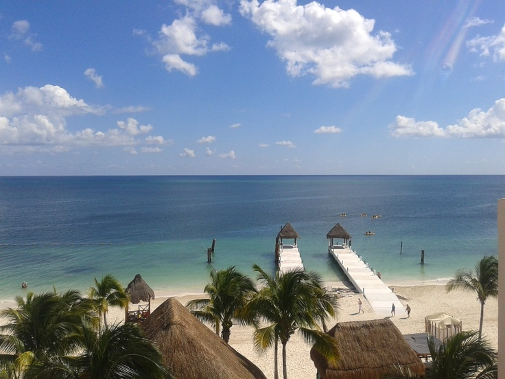 The gorgeous view from the Caribbean sea at Excellence Riviera Cancun.  #Mexico, #Cancun, #RivieraMaya