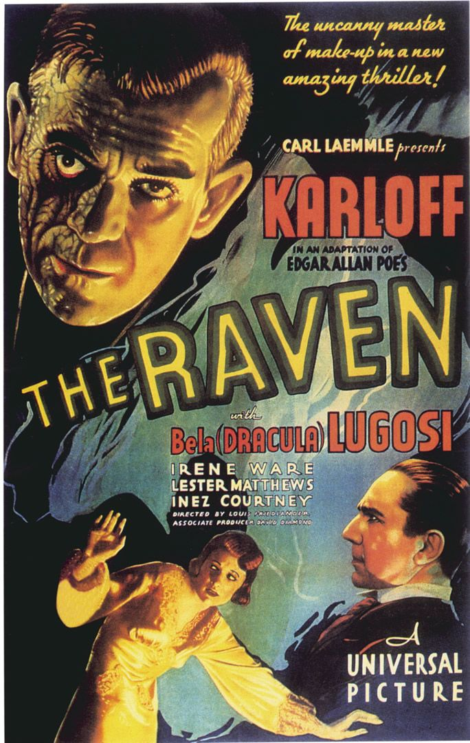vintage horror movie posters | The Raven - Vintage Horror Movie Posters Wallpaper Image