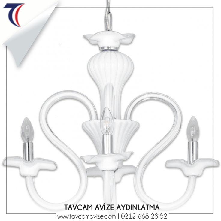 Buket, zarif duruşu ve beyaz renginin verdiği asaletle ev dekorasyonunuza şıklık katacak bir avizedir. goo.gl/6RWC2u #tavcamistanbul #avize #şıkavize #evdekorasyonu #zarifavize #aydınlatma