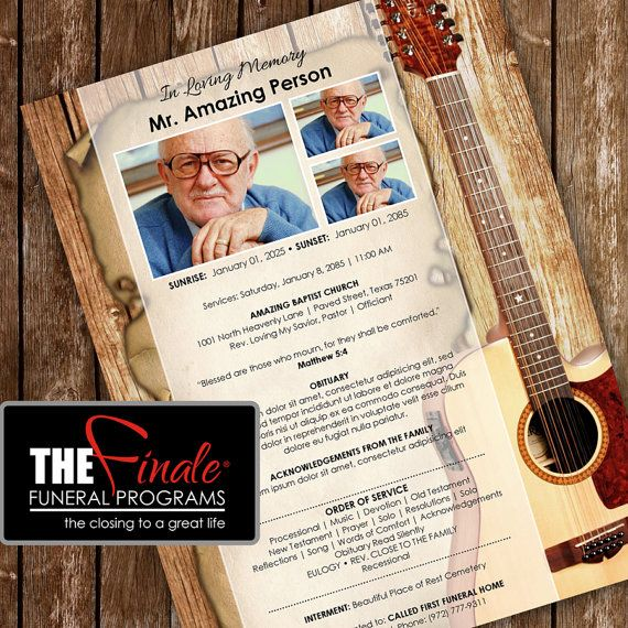 36 Best Funeral Program Templates Images On Pinterest Microsoft   Funeral  Poster Templates